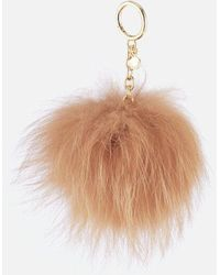MICHAEL Michael Kors - Women's Charms Large Fur Pom Pom - Lyst