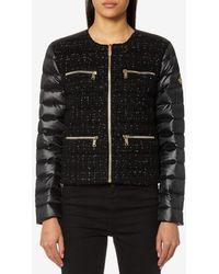 Michael Kors - Michael Women's Tweed Front Puffa Jacket - Lyst