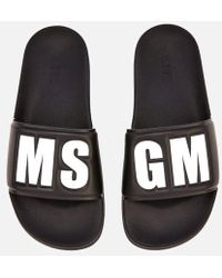MSGM - Women's Logo Slide Sandals - Lyst