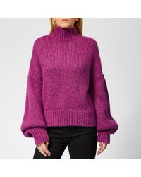 HUGO - Women's Sacia Oversized Knitted Jumper - Lyst