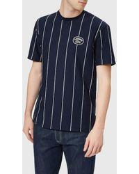 Lacoste - Men's Vertical Stripe/patch Logo Tshirt - Lyst