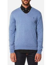 Polo Ralph Lauren - Men's Pima Cotton Vneck Knitted Jumper - Lyst