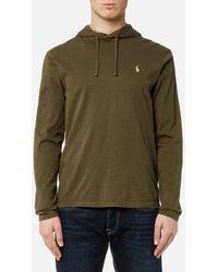 Polo Ralph Lauren - Men's Hooded Long Sleeve Tshirt - Lyst