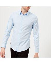 Emporio Armani - Men's Small Logo Long Sleeve Shirt - Lyst