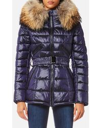 FROCCELLA - Women's Mid Belt Big Fur Collar Coat - Lyst