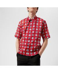 Maison Margiela - Men's Printed Muslin Short Sleeve Shirt - Lyst
