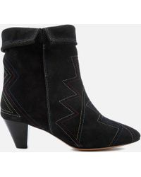 Isabel Marant - Dyna Suede Fold Over Heeled Boots - Lyst