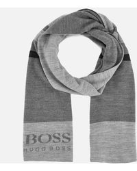 BOSS Green - Men's Knitted Scarf - Lyst