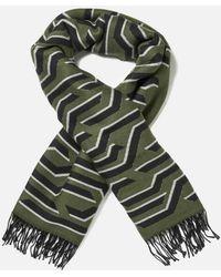 KENZO - Women's Geotiger Wool Scarf - Lyst