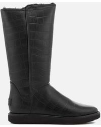 UGG - Women's Abree Ii Classic Luxe Croc Leather Tall Boots - Lyst