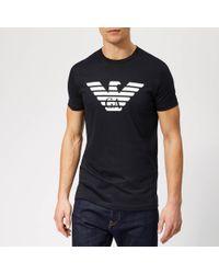 Emporio Armani - Large Eagle Logo T-shirt - Lyst