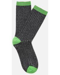 Ganni - Women's Classic Rib Socks - Lyst