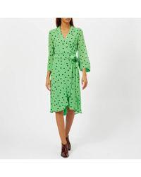 Ganni - Women's Dainty Georgette Dress - Lyst