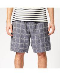 JW Anderson - Logo Grid Linen Shorts - Lyst