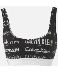 CALVIN KLEIN 205W39NYC - Women's Lightly Lined Bralette - Lyst