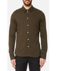 PS by Paul Smith - Men's Slim Fit Long Sleeve Pique Shirt - Lyst