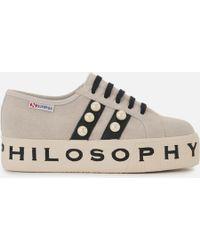 Philosophy Di Lorenzo Serafini - X Superga Flatform Trainers - Lyst