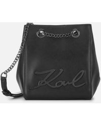 Karl Lagerfeld - Women's Signature Bucket Bag - Lyst