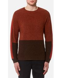 Folk - Men's Panel Texture Crew Neck Jumper - Lyst