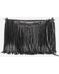 Rebecca Minkoff - Finn Fringe Leather Clutch Bag - Lyst