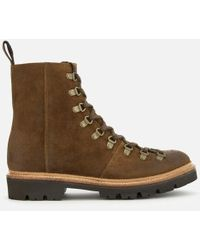 Grenson - Men's Brady Burnished Suede Hiker Lace Up Boots - Lyst