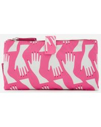 Lulu Guinness | Women's Hug Print Double Make Up Bag | Lyst