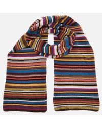 Paul Smith - Men's Multistripe Knitted Scarf - Lyst