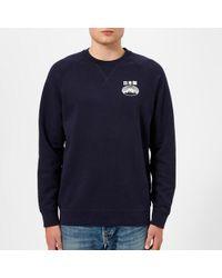 Edwin - Men's Fuji San Raglan Sweatshirt - Lyst