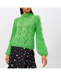 Ganni - Julliard Mohair And Wool Sweater - Lyst