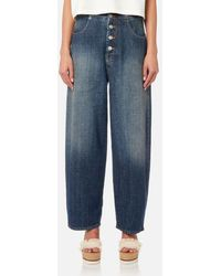 MM6 by Maison Martin Margiela - Women's Button Fly Jeans - Lyst