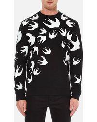 McQ - Swallow Print Sweatshirt - Lyst
