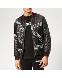 1467baa7b97 Philipp Plein - Tape Stripes Nylon Jacket - Lyst