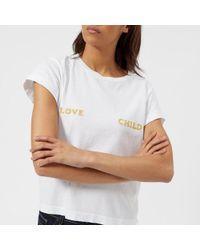 Wildfox - Women's Love Child Short Sleeve Tshirt - Lyst