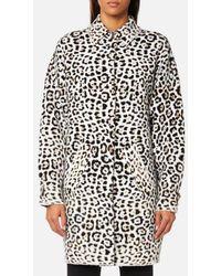 MICHAEL Michael Kors - Women's Animal Jacquard Coat - Lyst