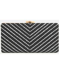 Lulu Guinness - Women's Diagonal Stripe Flat Frame Purse - Lyst