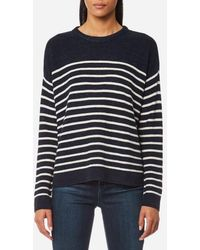 Ralph Lauren | Women's Crew Neck Stripe Jumper | Lyst