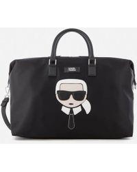 Karl Lagerfeld   Women's K/ikonik Nylon Weekender Bag   Lyst