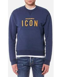 DSquared² - Men's Icon Logo Dan Fit Sweatshirt - Lyst