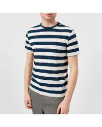 Officine Generale - Officine Générale Men's Overdye Stripe Tshirt - Lyst