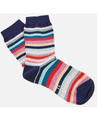 PS by Paul Smith - Women's Clarissa Lurex Swirl Socks - Lyst