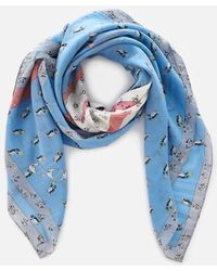 COACH - Women's Sharky Patchwork Oversized Square Scarf - Lyst