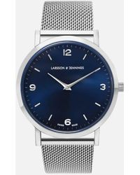Larsson & Jennings - Lugano 38mm Silver Stainless Steel Chain Metal Watch - Lyst