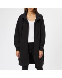 T By Alexander Wang - Heavy French Terry Oversized Full-zip Sweatshirt - Lyst