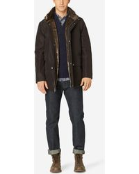 Cole Haan - Stand Collar Nylon Jacket - Lyst