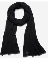 Cole Haan | Cashmere Blend Tipped Rib Muffler Scarf | Lyst