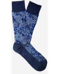 Cole Haan - Tonal Floral Crew Socks - Lyst
