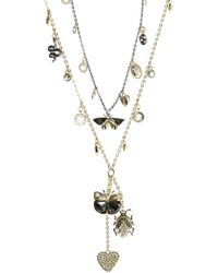 Swarovski - Magnetic Double Necklace - Lyst