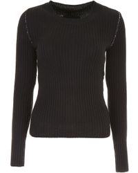 MM6 by Maison Martin Margiela - Crew Neck Pullover - Lyst
