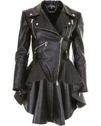 Alexander McQueen - Leather Biker Jacket - Lyst