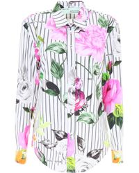Off-White c/o Virgil Abloh - Striped Floral Shirt - Lyst